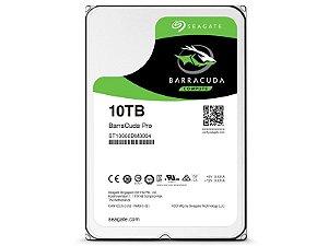 HDD Seagate Barracuda PRO 10 TERA 7200RPM 256MB CACHE SATA 6GB/S + RESCUE 02 ANOS HDD 3,5 DESKTOP