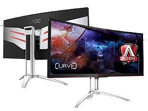 "Monitor Gamer AOC 35"" LED 3440X1440 ULTRA WIDE 120HZ NVIDIA"