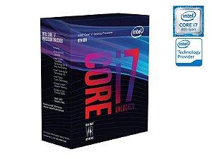 Processador Intel  Hexa Core I7-8700K 3.7GHZ 12M CACHE 8GER S/COOLER