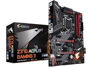 Placa Mae Gigabyte Z370 AORUS GAMING 3 ATX DDR4 4133MHZ M.2 SLI