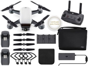 Drone DJI SPARK FLY MORE COMBO WHITE ALPINE C/ RADIO CONTROLE-35391-2