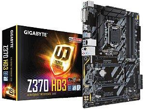 Placa Mae Gigabyte Z370 HD3 ATX DDR4 4000MHZ M.2 USB 3.1