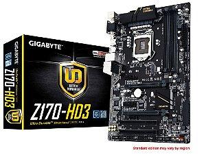 Placa Mae Gigabyte Z170-HD3 ATX DDR3 3200MHZ CHIPSET Z170 RAID CROSSFIRE