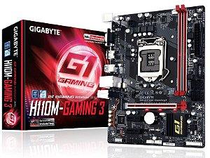 Placa Mae Gigabyte H110M-GAMING 3 MATX DDR4 2133MHZ HDMI USB 3.0