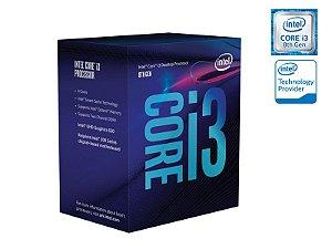 Processador Intel Quad Core I3-8100 3.60GHZ 6MB CACHE GRAF UHD 8GER