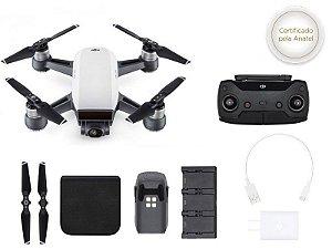 Drone DJI SPARK WHITE ALPINE + RADIO CONTROLE + HUB CARREGADOR P/ 03 BATERIAS