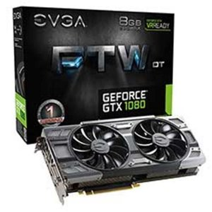 PLACA DE VIDEO EVGA GEFORCE GTX 1080 8GB FTW DT GAMING ACX 3.0 DDR5X 256BITS - 08G-P4-6284-KR