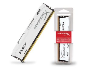 Memória Kingston HyperX Fury 8GB 2400MHZ NON-ECC CL15 DIMM WHITE GAMER DDR4