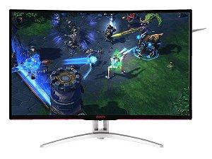 "Monitor 31.5"" LED AOC 1920X1080 WIDE VGA DVI HDMI DP GAMER ENTUSIASTA AG322FCX/75"