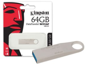 Pen Drive Kingston 64GB DATATRAVELER SE9 G2 64GB PRATA USB 3.0 DTSE9G2