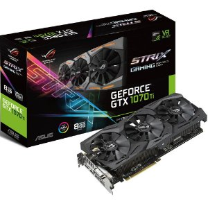PLaca de Video Asus Geforce GTX 1070 TI 8GB DDR5 ROG-STRIX-GTX1070TI-A8G-GAMING