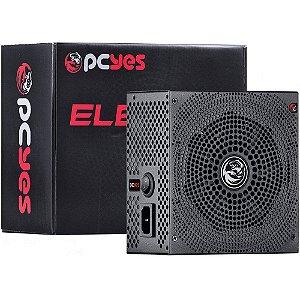 Fonte Pcyes ATX 500W REAL ELECTRO V2 SERIES 80 PLUS BRONZE - ELECV2PTO500W