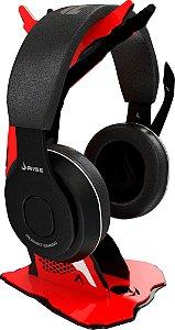 Suporte para Headset Rise Alien Preto e Vermelho