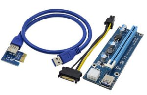 Cabo RISER VER006C PCI TO 16X MINI PCI-E 60CM USB CABLE U34 - P/ Mineração