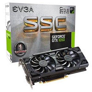 PLACA DE VIDEO EVGA GEFORCE GTX 1050 2GB SSC GAMING ACX 3.0 DDR5 128BITS - 02G-P4-6154-KR