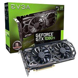 Placa De Video Evga Geforce GTX 1080 TI 11GB SC BLACK ED GAMING ICX COOLER AND LED DDR5X 352B