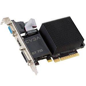 Placa De Video Evga Geforce GT 710 LP 2GB DDR5 - 02G-P3-3712-KR