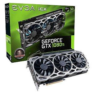 Placa De Video Evga Geforce GTX 1080 TI FTW3 GAMING 11GB DDR5X 352 BITS 11G-P4-6696-KR