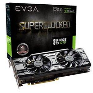 Placa De Video Evga Geforce GTX 1070 GAMING ACX 3.0 BLACK ED 8GB DDR5 08G-P4-5173-KR