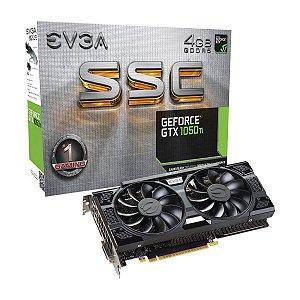 Placa De Video EVGA Nvidia Geforce GTX 1050 TI SSCGAMING ACX 3.0 4GB DDR5 128 BITS ACX 3.0  04G-P4-6255-KR