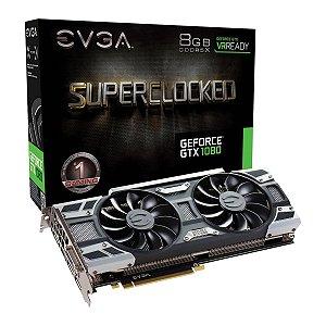 Placa De Video EVGA Nvidia Geforce GTX 1080 8GB SC GAMING ACX3.0 GDDR5X 256BITS H08G-P4-6183-KR