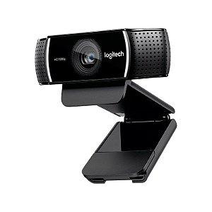 Webcam HD Logitech Pro C922 1080p Streaming C/ Tripé