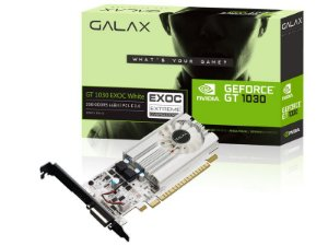 Placa de Video GEFORCE GALAX GT MAINSTREAM NVIDIA GT 1030 EXOC WHITE 2GB DDR5
