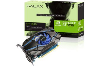 Placa de Video GEFORCE GALAX GT MAINSTREAM NVIDIA GT 1030 2GB DDR5