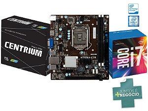 Placa Mãe C/ Processador Intel Centrium I7-6700 3.4GHZ DDR4 CHIPSET H110
