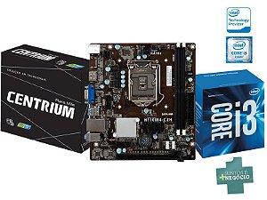 Placa Mãe C/ Processador Intel Centrium I3-6100 3.70GHZ DDR4 CHIPSET H110