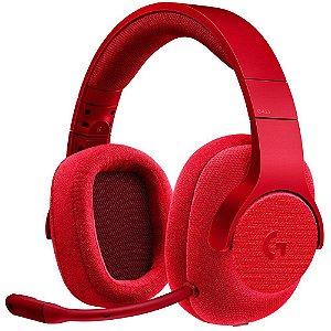 Headset Gamer Logitech G433 7.1 Vermelho