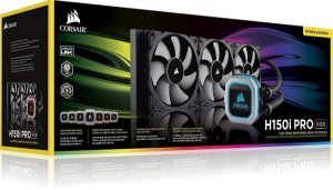 Water Cooler Corsair H150I PRO RGB 360MM  TRIPLE FAN 120MM CW-9060031-WW