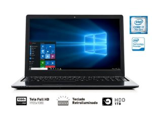 Notebook Vaio I7-7500U 8GB 1TB 15.6 FULLHD c/ Led