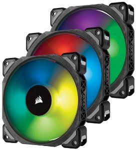 Case Fan Corsair ML120 RGB PRO 120MM PREMIUM C/ LEVITAÇÃO MAGNÉTICA PACK C/3 UN CO-9050076-WW
