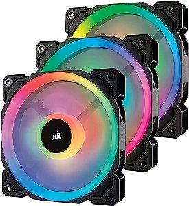 Case Fan Corsair LL SERIES 120MM RGB PACK COM 3 UNIDADES  CO-9050072-WW