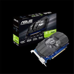 Placa de Video Asus Geforce GT 1030 2GB OC DDR5 64 BITS - PH-GT1030-O2G