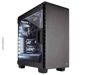 Gabinete Corsair Carbide Series 400C CLEAR MID TOWER GAMING CC-9011095-WW