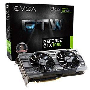 Placa De Video Evga Geforce GTX 1080 FTW GAMING ACX 3.0 8GB DDR5X 256BITS 08G-P4-6286-KR