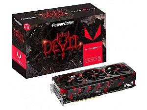 Placa De Video Power Color Red Devil RX VEGA 64 8GB HBM2 2048 BITS - AXRX VEGA 64 8GBHBM2-2D2H/OC