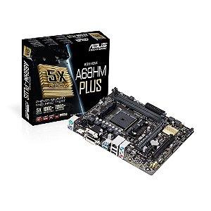 Placa Mae Asus A68HM-PLUS FM2+ 90-MB0L40-M0EAY0