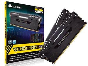 Memória Corsair Vengeance RGB 16GB KIT (2X8GB) 3000MHZ CL16 - CMR16GX4M2D3000C16