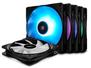 Kit Cooler Fan DeepCool RF 120 (5XFAN) -  DP-FRGB-RF120-5C-M