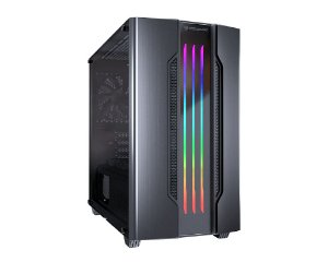 Gabinete Gamer Cougar Gemini M Iron Gray, Mini Tower, RGB, com FAN, Lateral em Vidro - 385TMB0.0002