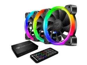 Kit Fan com 3 Unidades Cougar Vortex, RGB, HPB, 120mm - 3MHPBKIT.0001