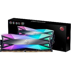 Memória Adata XPG Spectrix D60G RGB 8GB 3000MHz DDR4 CL16 Cinza - AX4U300038G16-ST60