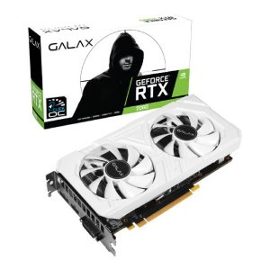 Placa de Vídeo Galax NVIDIA GeForce RTX 2060 6GB EX WH 1CLICK OC G6 GALAX - 26NRL7HPY3EW
