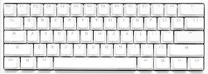 Teclado Mecânico Ducky Channel One 2 Mini Pure White RGB 60% Cherry Red