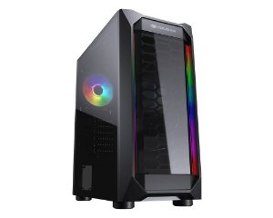 Gabinte Gamer Cougar MX410-T, Mid Tower, RGB, com Fan, Lateral em Vidro - 385VM60.0003
