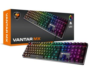Teclado Mecânico Gamer Cougar Vantar MX RGB, Switch Red, Black - 37VAMM1SB.0004