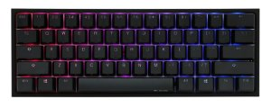 Teclado Mecânico Ducky Channel One 2 Mini v2 RGB Backlit Cherry Brown - DKON2061ST-BUSPDAZT1